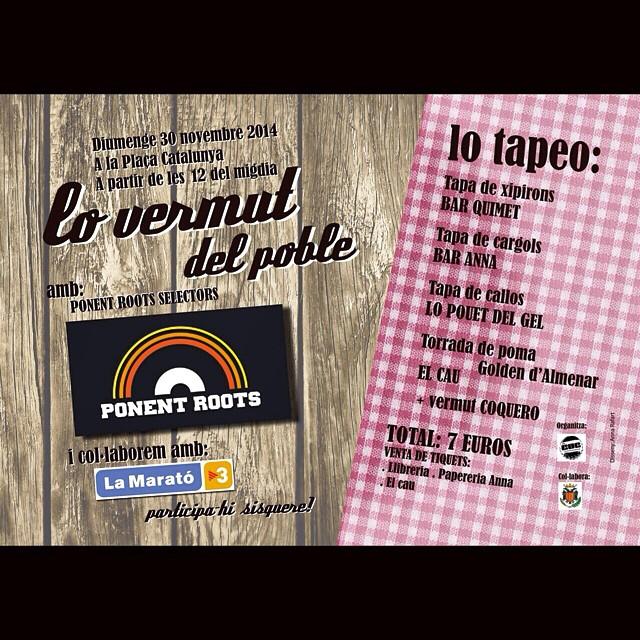 Don't keep out the fight! Diumenge portem els nostres disquets a Almenar, el jovent ha organitzat un vermut per fer fons per @lamaratotv3 i nosaltres hi posem la BSO a ritme de sons negres! Nah miss it! #almenar #igerslleida #blackmusic  #mysound #lamaratodetv3 #unity #solidarity