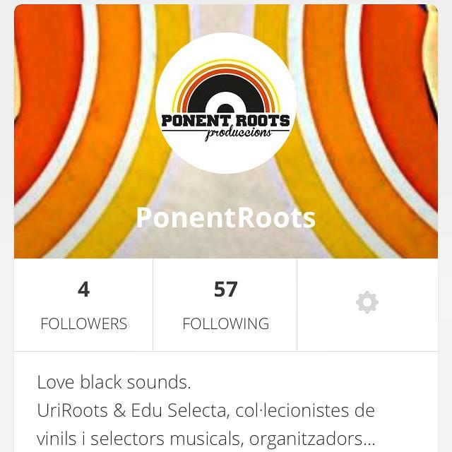 Morning people! Ens hem obert un compte a Mixcloud, si voleu escoltar les sessions que anem gravant...follow us! #followus #ponentroots #mixcloud  #lleida #igerslleida #blackmusic