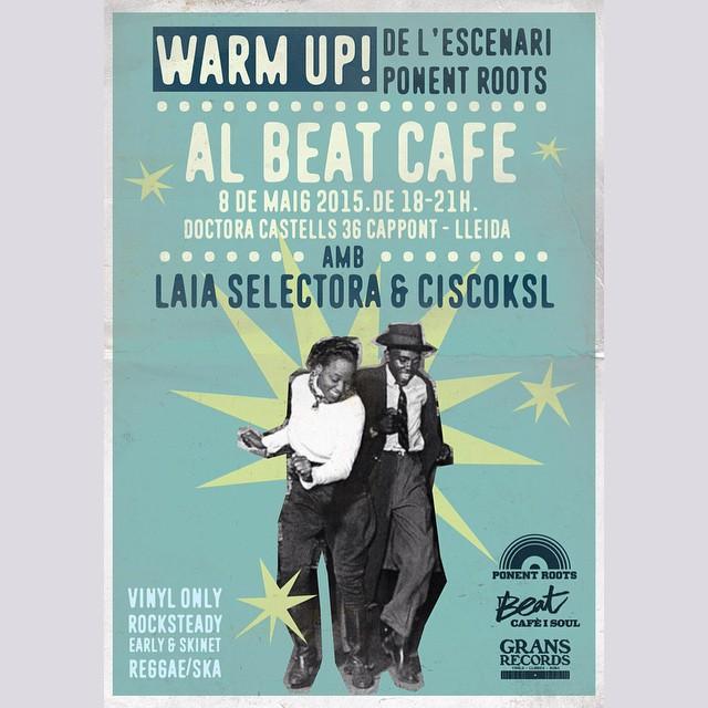 I el mateix divendres 8 de maig, a partir de les 18h, al Beat Cafè de Cappont, els nostres amics @ciscoksl i @laiabuira faràn el warm up del concert, amb una sel.lecció de Early #Reggae, #Rocksteady i #Ska strictly vinyl per calentar el cos i posar-ho tot a punt per la #NitPonentRoots. Contarem amb l'equip de @gransrecords amb un só lluit.  Així que ja ho sabeu, els amants dels sons jamaicans, teniu una cita a #Lleida Town si o si.